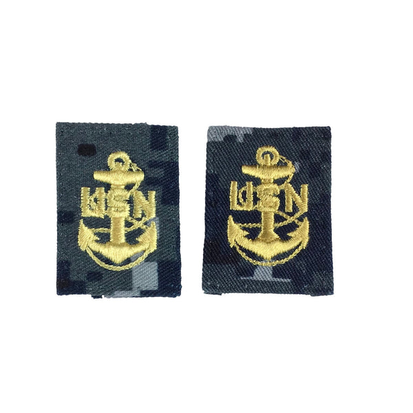 NAVY NWU Type I Collar Device - E7 Chief