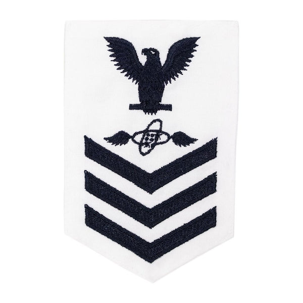 NAVY Women's E4-E6 (AT) Rating Badge: Aviation Electronics Technician - White