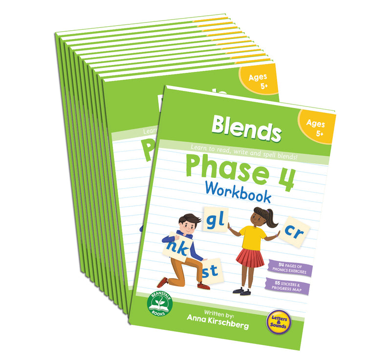 Phase 4 Blends Workbook - 12 Pack