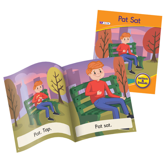 Decodable Readers Phase 2 (Set 2) - Letter Sound Fiction  (Set of 6)