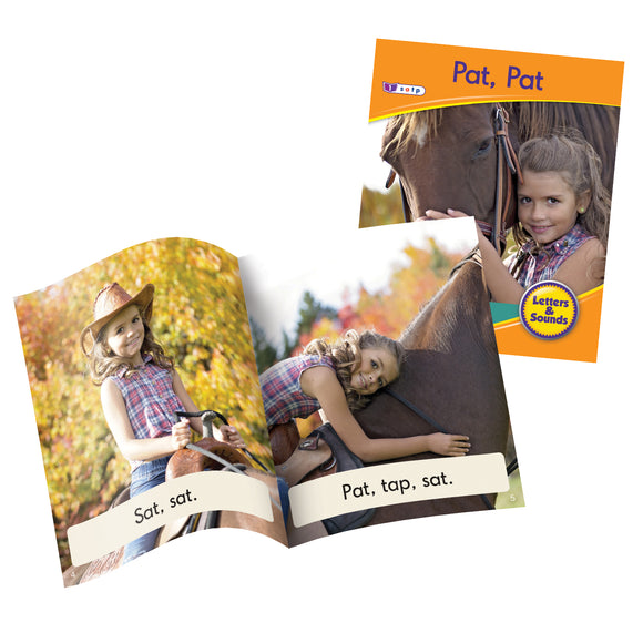 Decodable Readers Phase 2 (Set 2) - Letter Sound Non-Fiction (Set of 6)