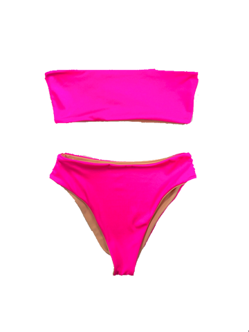 wendolin-designs - Wendolin Designs - Bikini bottom - Reversible High Waist Neon Pink Bikini Bottoms