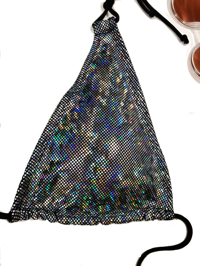 wendolin-designs - Wendolin Designs - Bikini Top - Triangular Bikini Top- Color Holographic Silver