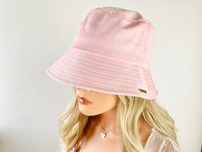 Rose Pink  Bucket Hat