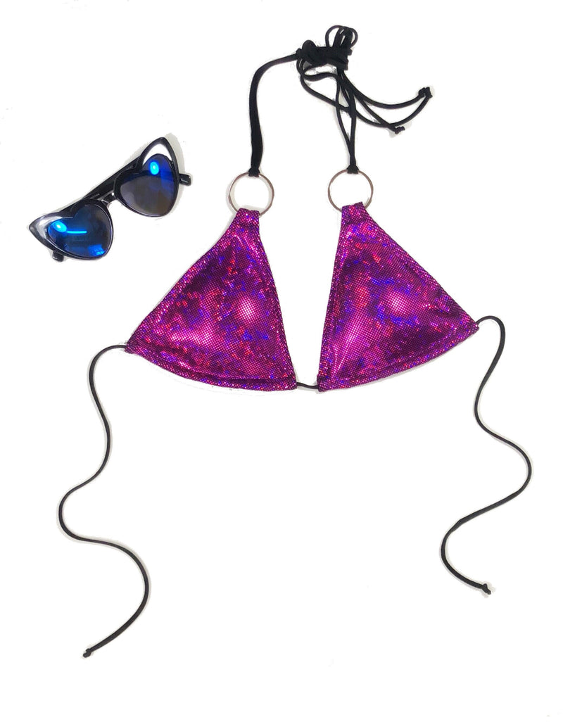 wendolin-designs - Wendolin Designs - Bikini bottom - Bikini Set - Color Purple Holographic - Big rings