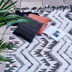Contemporary patterned sustainable rug