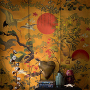 Metallic Oriental Wallpaper
