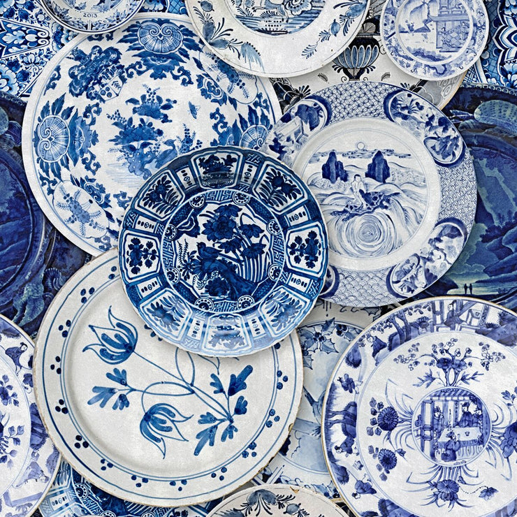 Delft Blue Wallpaper
