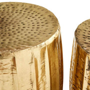 Gold Side Tables (Set of Two)