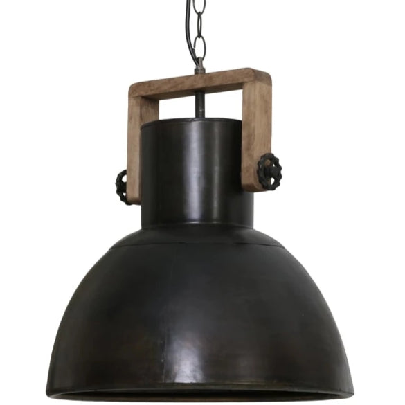 Black zinc domed shape ceiling pendant light