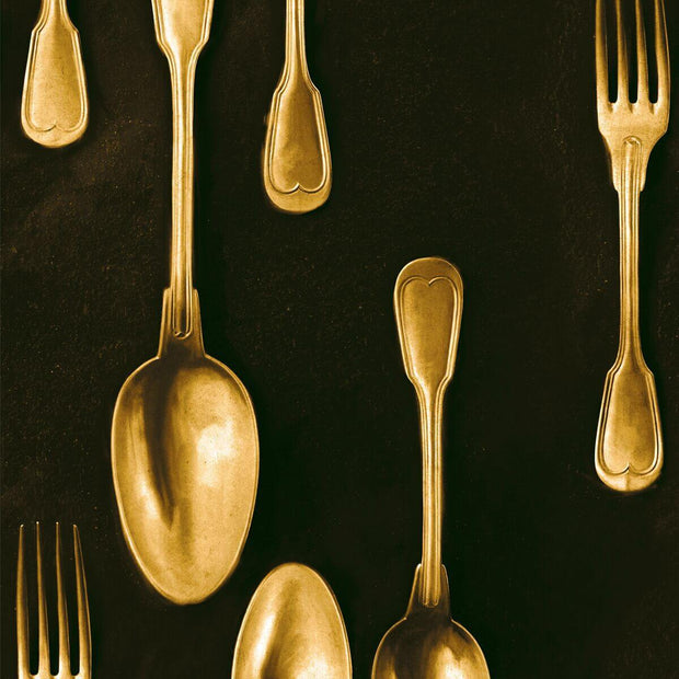 Brass Cutlery Wallpaper