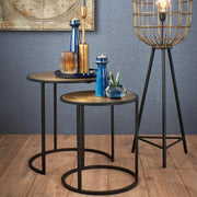 Brass Side Tables (Set of Two)