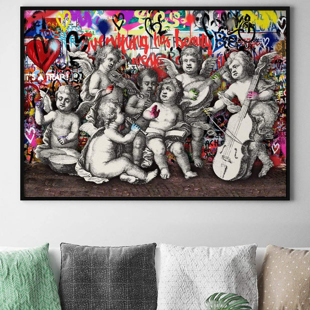 Cheeky cherub graffiti art print
