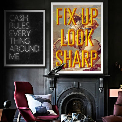 Fix up look sharp bold yellow art print