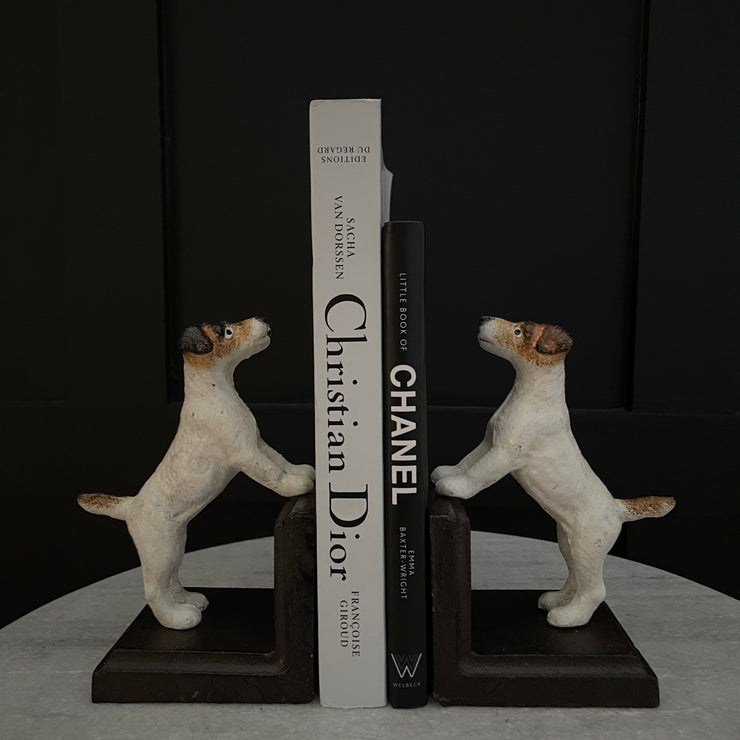 Pair of terrier dog bookends