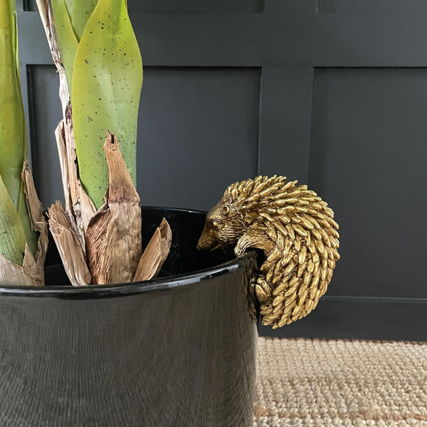 Gold Hedgehog Plant Pot Hanger