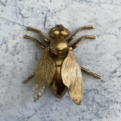 Gold fly decorative ornament