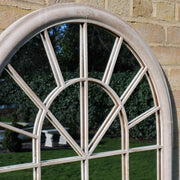 Large arched window style mirror suitable for indoor and outdoor
