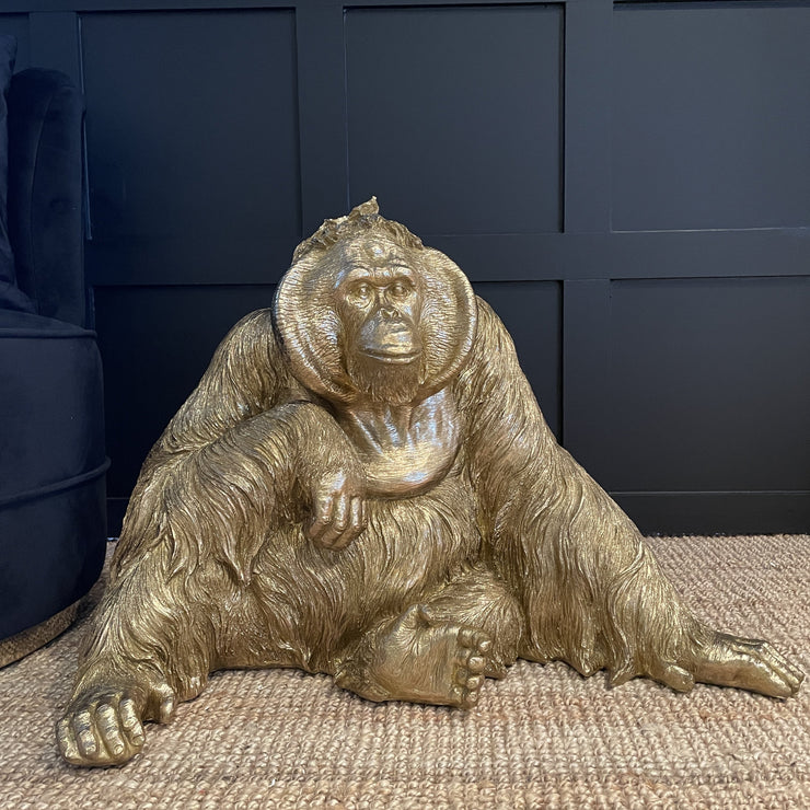 Large Gold Orangutan Ornament