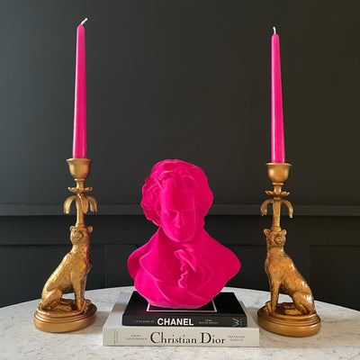 Gold leopard candlesticks
