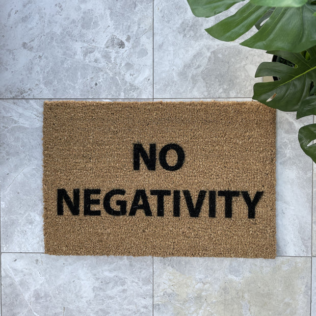 No negativity doormat