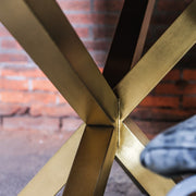 Gold asymmetric metal legs