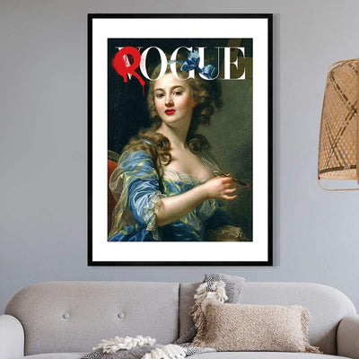Rogue art print of historic woman on a vogue cover