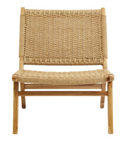 Wooden eco-friendly weaved pattern rope chair