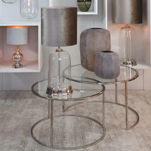 Silver Coffee Tables (Set of Two)