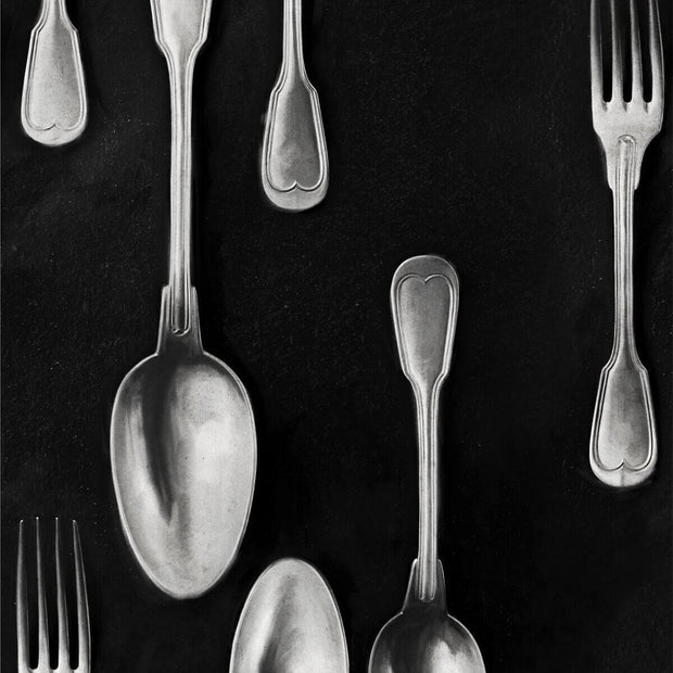 Silver Cutlery Wallpaper