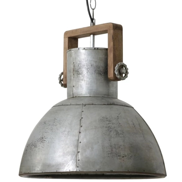 Vintage silver domed shape ceiling pendant light