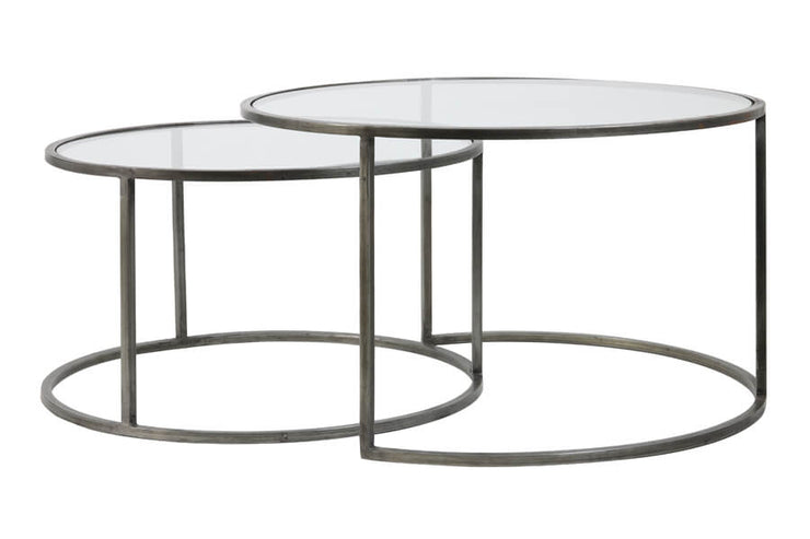 Glass Coffee Tables (Set of Two)