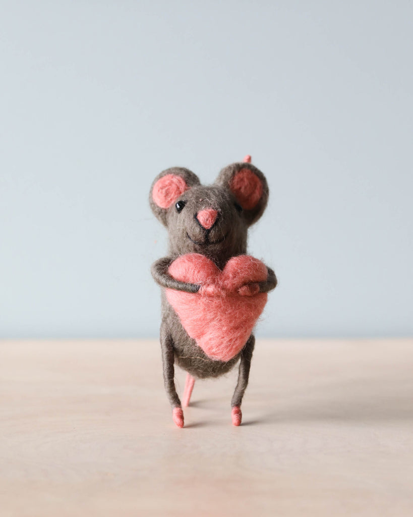 Felt Mouse With Heart