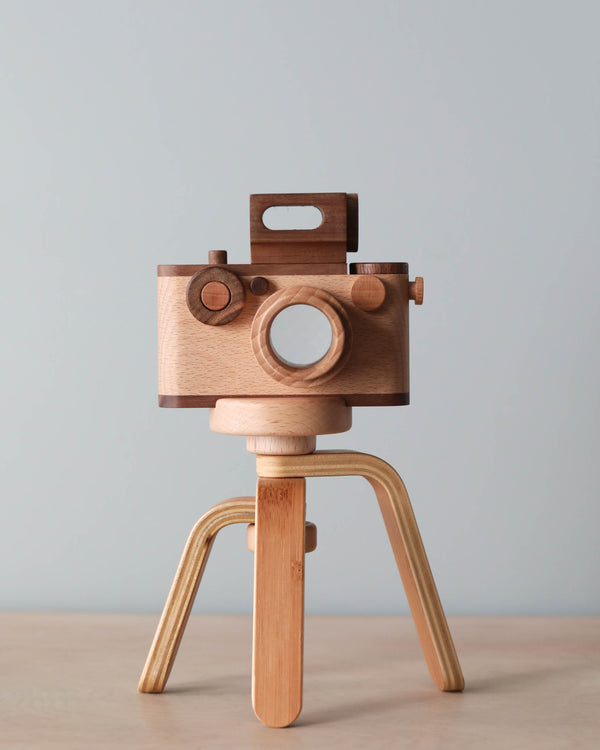 Father's Factory Vintage Style Wooden Toy Camera