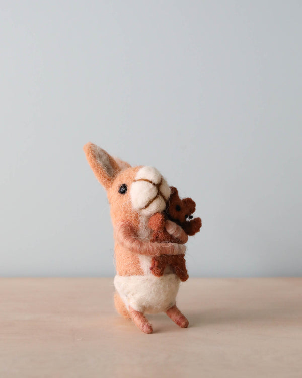 Felt Bunny With Teddy Bear