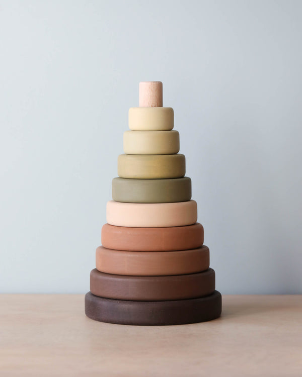 Wooden Stacking Toy - Olive