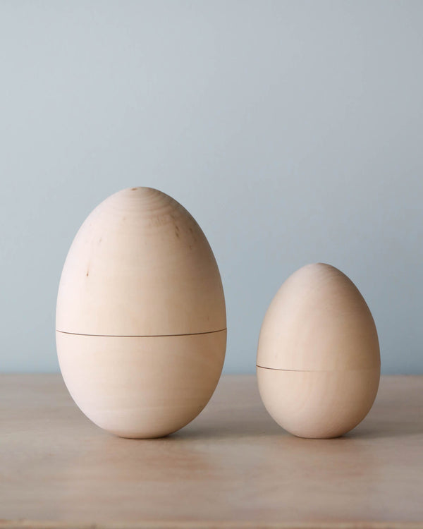Hollow Wooden Easter Egg