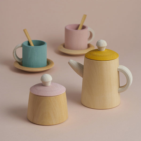 Handmade Wooden Tea Set