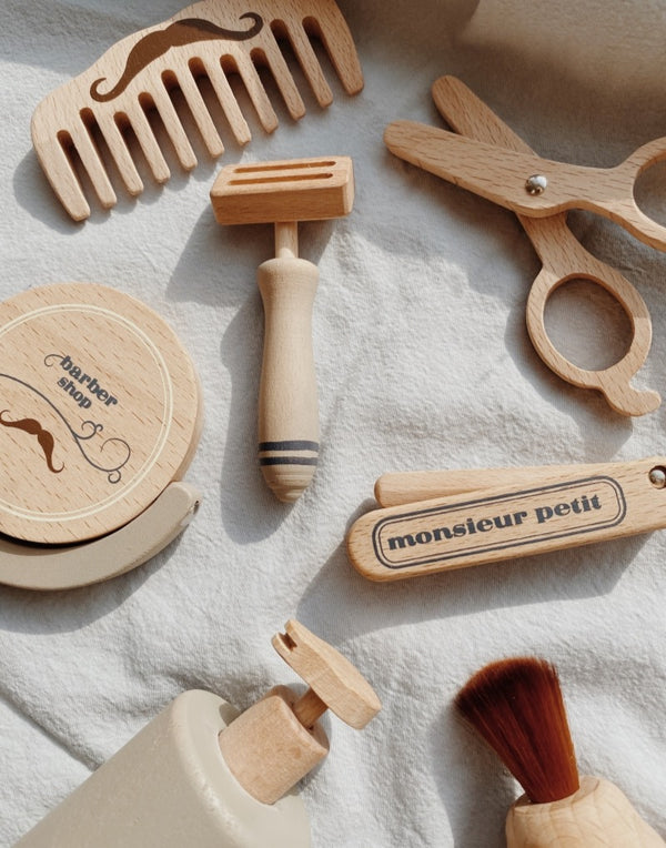 Pretend Play Wooden Barber Set