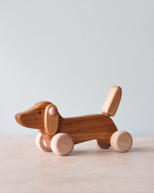 Wooden Dachshund Puppy