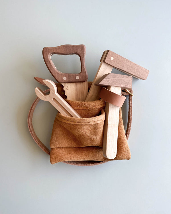 Wooden Tools & Suede Tool Belt