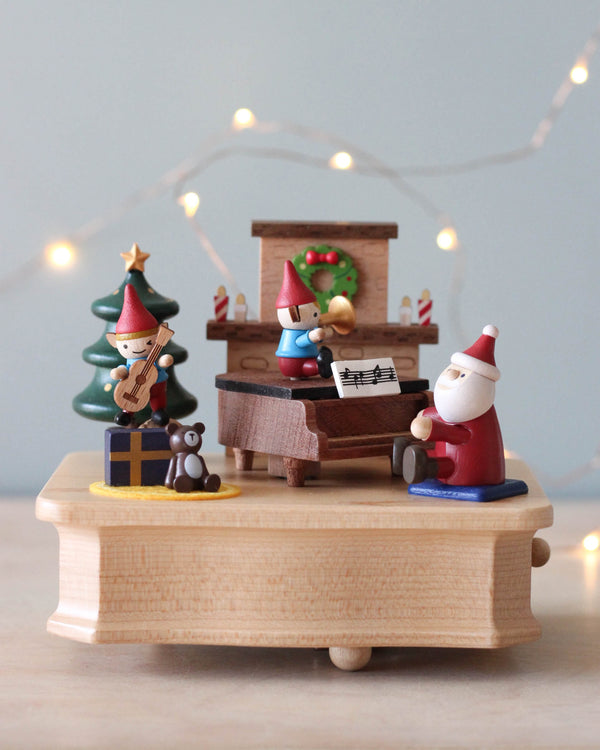 Santa's Christmas Concert Music Box
