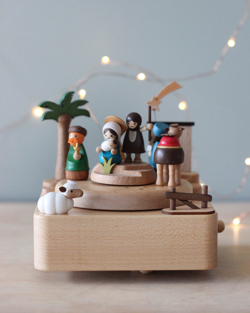 Nativity Scene Music Box