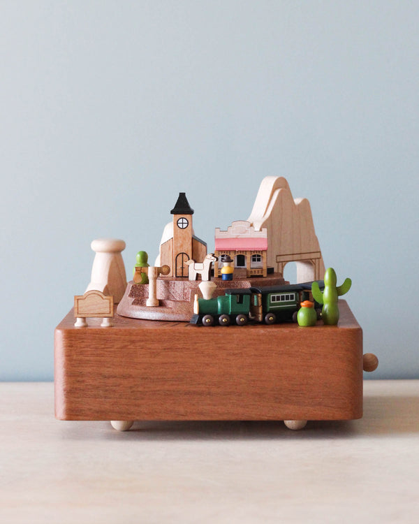 Wooden Train Music Box