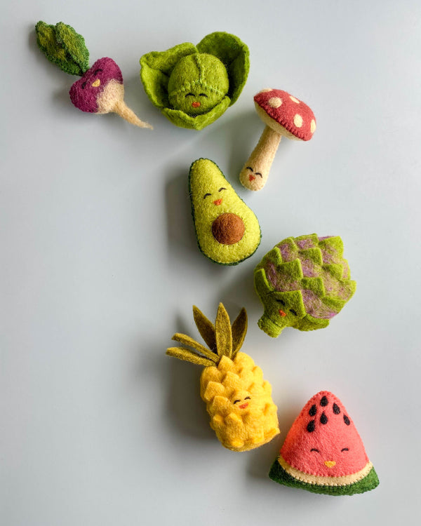 Felted Fruits and Vegetables