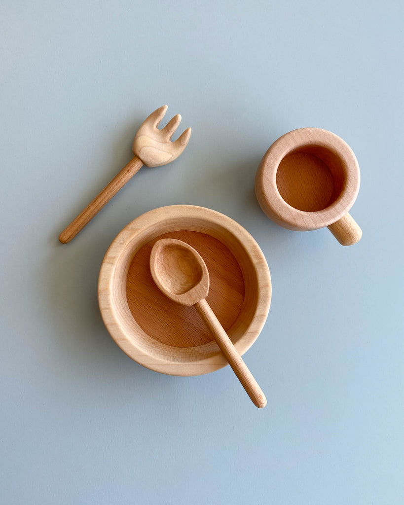 Handmade Pretend Dinnerware Set