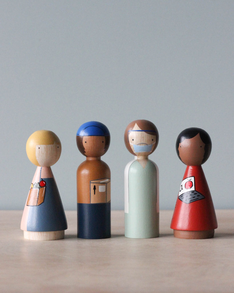 Essential Workers Peg Dolls