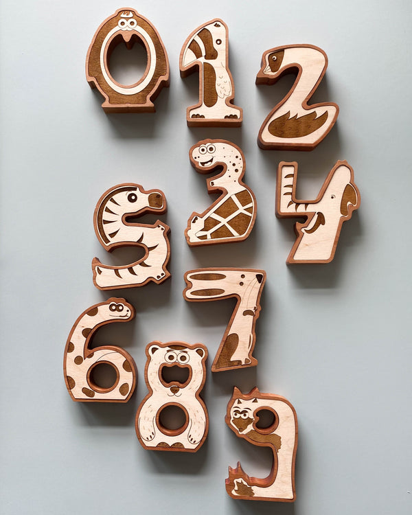 Wooden Animal Numbers