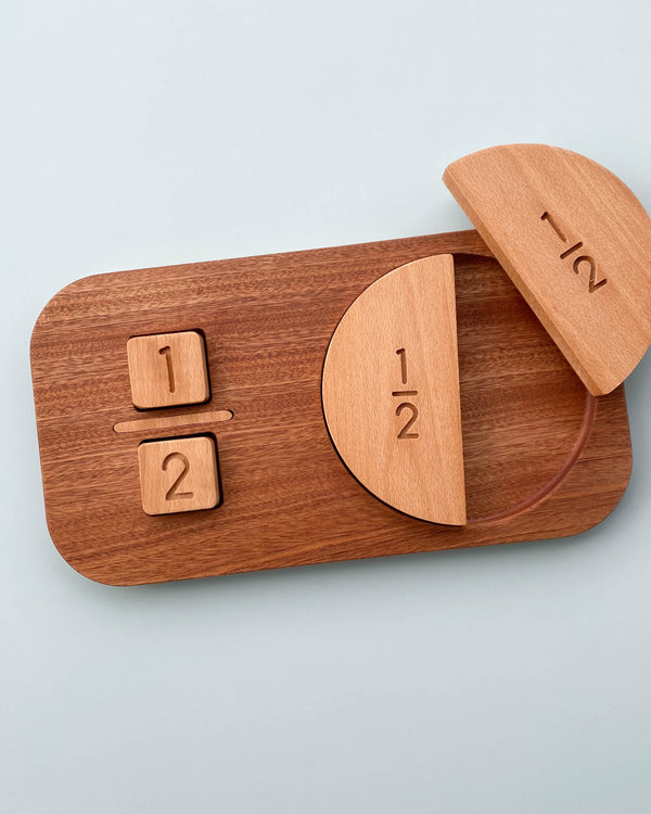 Wooden Fraction Puzzle - Made in USA