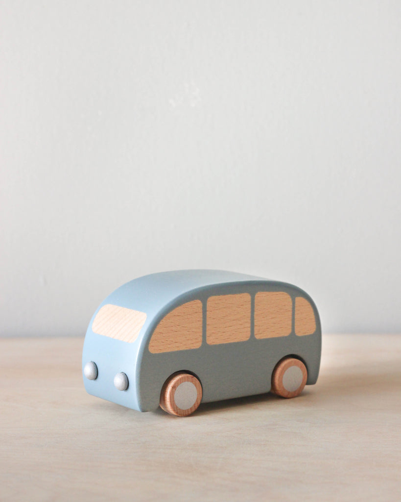 Wooden Pull Back Bus